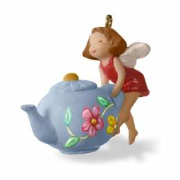 Hallmark A Spot of Tea Mini Fairy Teapot Ornament