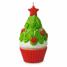 Hallmark Tasty Tannenbaum Mini Christmas Tree Cupcake Ornament