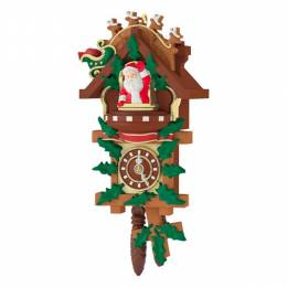 Hallmark Santa's Tiny Timekeeper Mini Cuckoo Clock Ornament