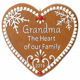 Hallmark Grandma Gingerbread Heart Ornament