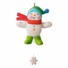 Hallmark Snow Angel Memories Mini Snowman Ornament