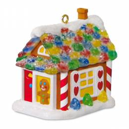 Hallmark Sweet Little Mouse House Mini Gingerbread House Ornament With Light