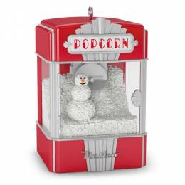 Hallmark Poppy Holidays! Mini Popcorn Machine Ornament With Light