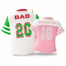Hallmark Dad & Daughter Colorful Jerseys Ornament