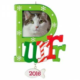 Hallmark Cat Purr Photo Holder Ornament