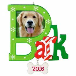 Hallmark Dog Bark Photo Holder Ornament