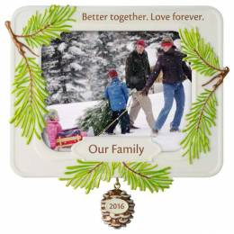 Hallmark Better Together Family Photo Holder Ornament