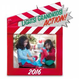 Hallmark Lights! Grandkids! Action! Photo Holder Ornament