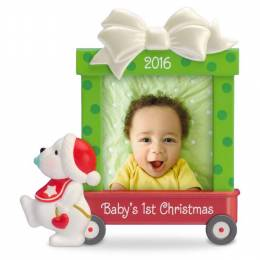 Hallmark Beary Cute Baby's First Christmas Photo Holder Ornament