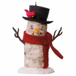 Hallmark Birch Branch Snowman Ornament
