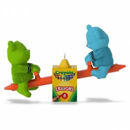 Hallmark Crayola Beary Colorful Friends Toddler Ornament