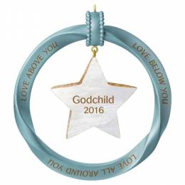 Hallmark Godchild Star Ornament