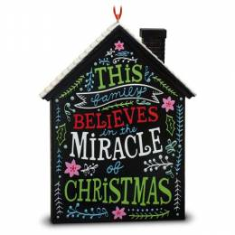 Hallmark The Miracle of Christmas Holiday House Ornament
