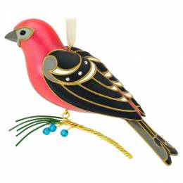 Hallmark The Beauty of Birds Pine Grosbeak Ornament