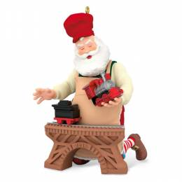Hallmark Toymaker Santa Train Ornament
