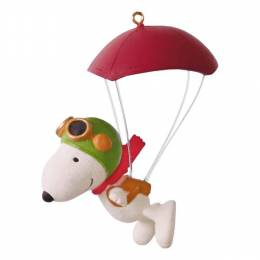 Hallmark The Peanuts Movie Paratrooper Snoopy Ornament