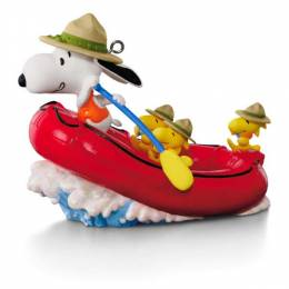 Hallmark The PEANUTS Gang Snoopy�s White Water Adventure Rafting Ornament