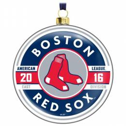 Hallmark MLB Boston Red Sox Glass Ornament