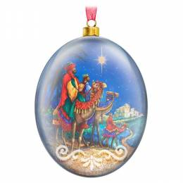 Hallmark We Three Kings Glass Ornament
