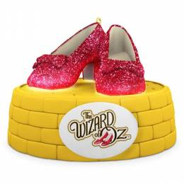 Hallmark THE WIZARD OF OZ RUBY SLIPPERS Ornament With Lights