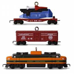 Hallmark LIONEL 2533W Great Northern Freight Set of 3 Mini Ornaments