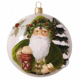 Hallmark Evergreen Father Christmas Premium Glass Ornament