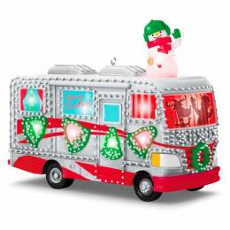 Hallmark Crazy Christmas Camper Ornament With Lights and Sound