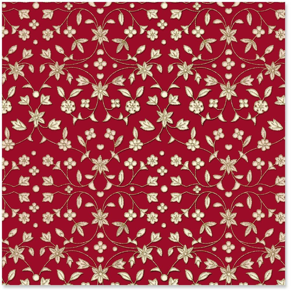 Hallmark Heritage Floral Premium Wrapping Paper Roll, 25 sq. ft.