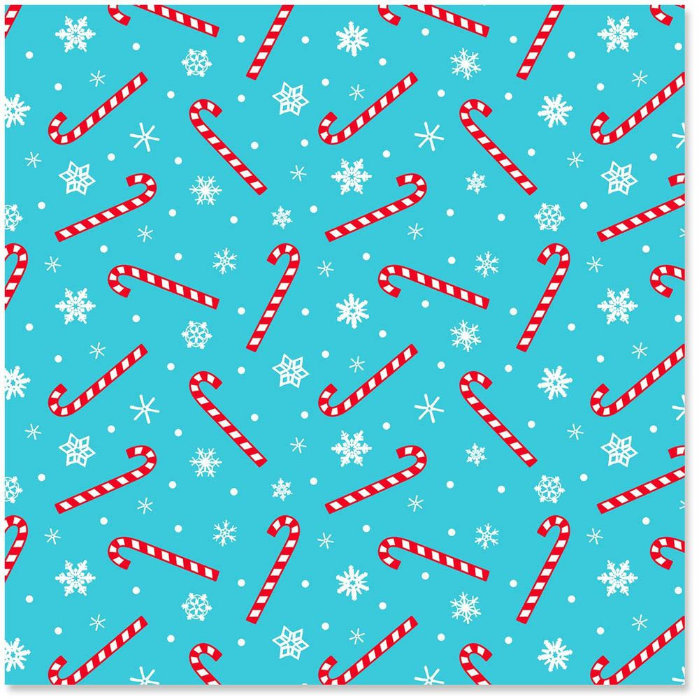 Hallmark Frosty Friends Peppermint Candy Canes Wrapping Paper Roll, 45 sq. ft.