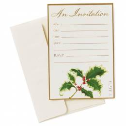 Hallmark Merry Poinsettias Holiday Party Invitations, Pack of 10