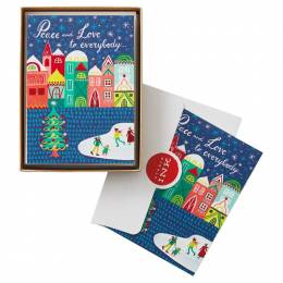 Hallmark Peace and Love to Everybody Christmas Cards, Box of 12