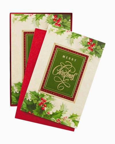 Holiday Traditions Christmas Cards, Box of 40