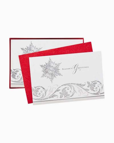 Season's Snowflakes Christmas Cards, Box of 40