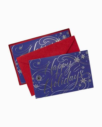Holiday Wishes Christmas Cards, Box of 40