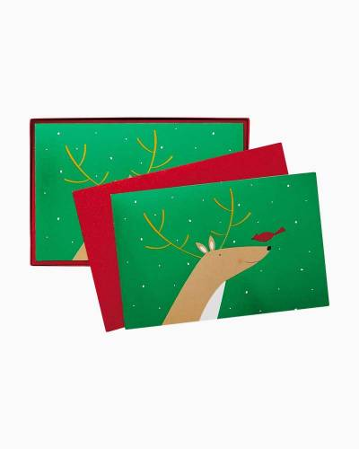 Happy Reindeer Christmas Cards, Box of 40