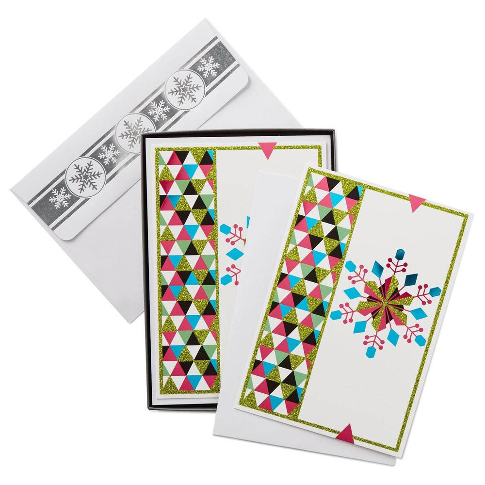 Hallmark Bright Snowflake Christmas Cards, Box of 16