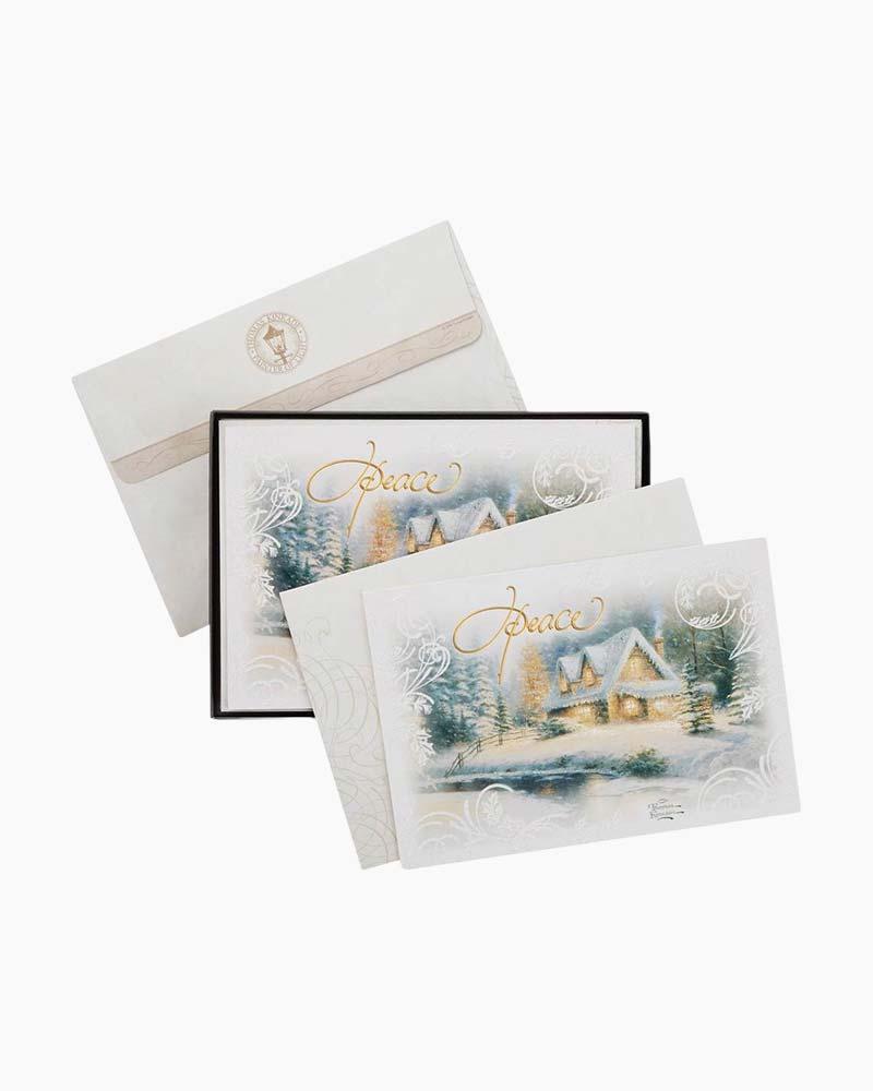 Hallmark Thomas Kinkade Peace Every Day Christmas Cards, Box of 16 ...