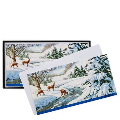 Winter Nature Christmas Cards, Box of 16