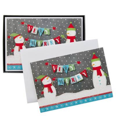 Very Merry Christmas Cards, Box of 12