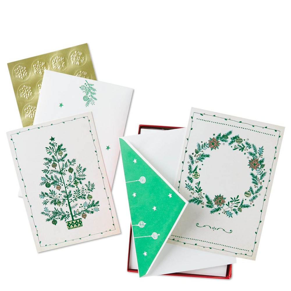 Hallmark Wonder of Christmas Assorted Greeting Cards, Box of 40