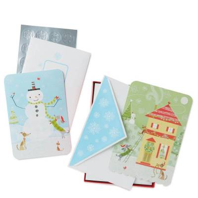 Jolly Holidays Assorted Christmas Cards, Box of 40