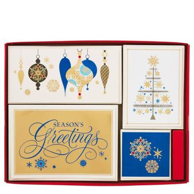 Joy and Wonder Assorted Christmas Cards, Box of 40