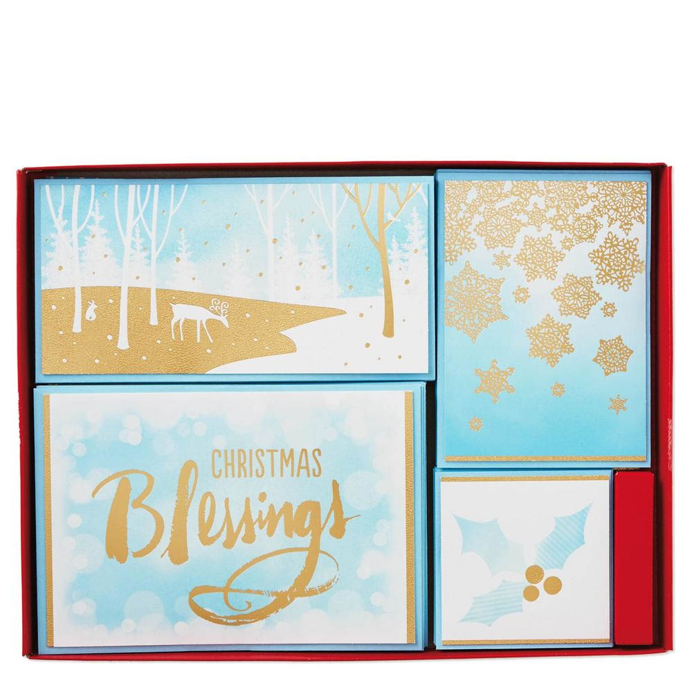 Hallmark Golden Blessings Assorted Christmas Cards, Box of 40   The ...