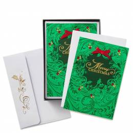 Hallmark Classic Wreath Christmas Cards, Box of 12
