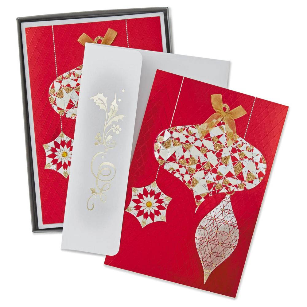 Hallmark Fancy Ornaments Christmas Cards, Box of 12   The Paper Store