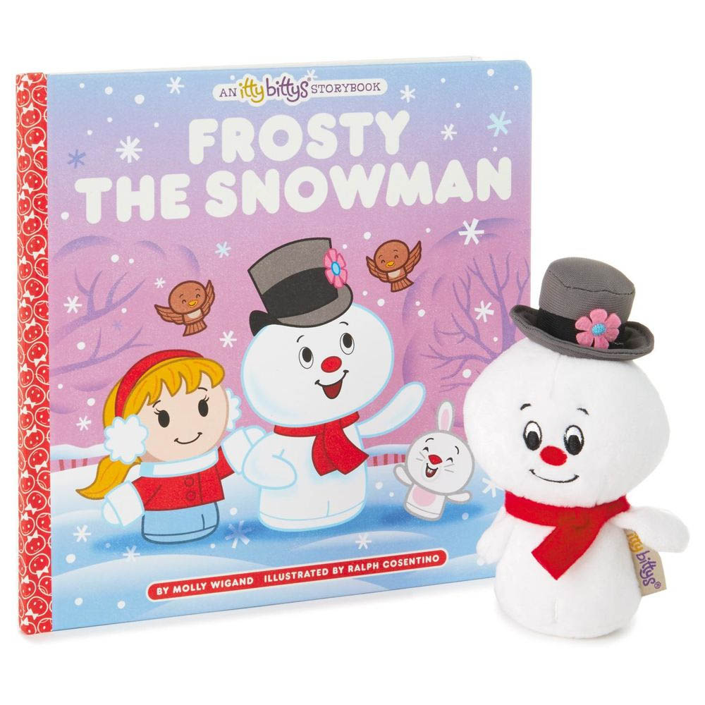 Hallmark itty bittys FROSTY THE SNOWMAN Stuffed Animal and Storybook Set