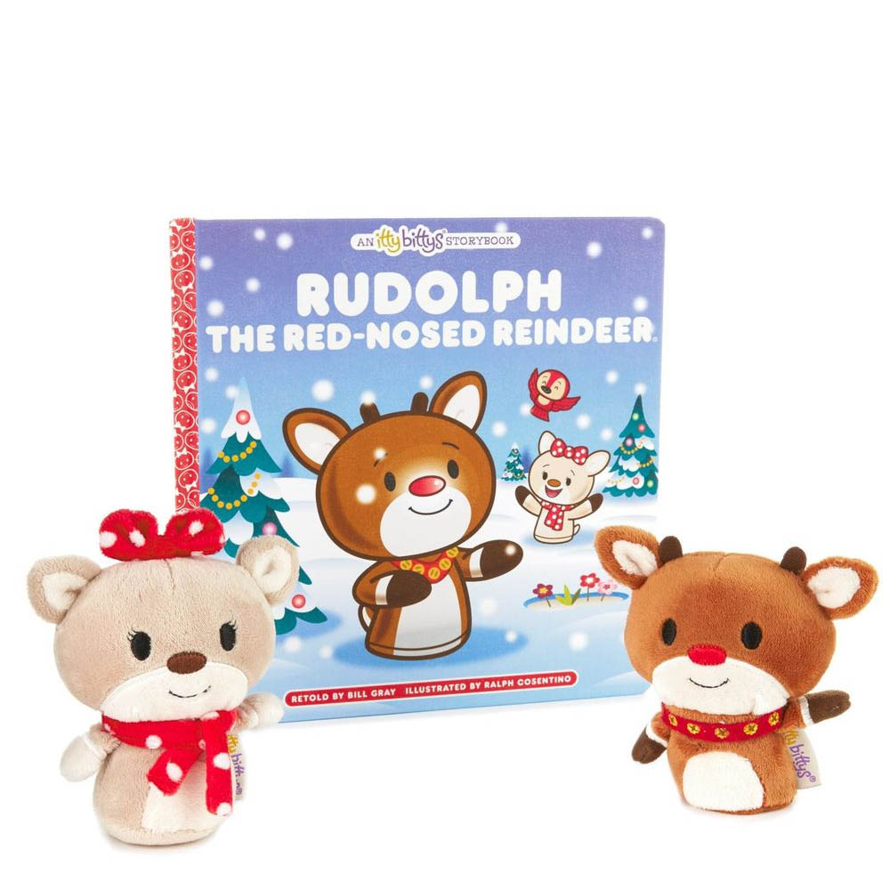 Hallmark itty bittys Rudolph the Red-Nosed Reindeer Stuffed Animals and Storybook Set