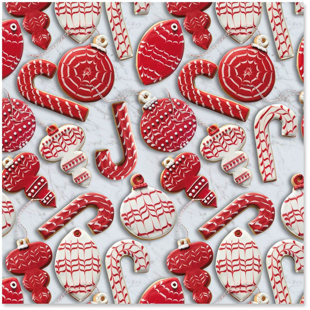 Hallmark Christmas Cookies Supersize Wrapping Paper Roll, 80 sq. ft.