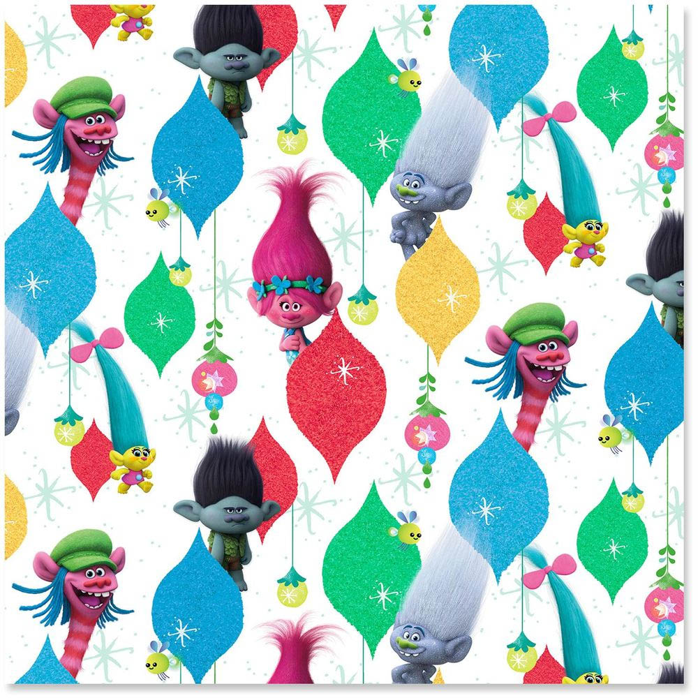 Hallmark DreamWorks Trolls Supersize Wrapping Paper Roll, 60 sq. ft.
