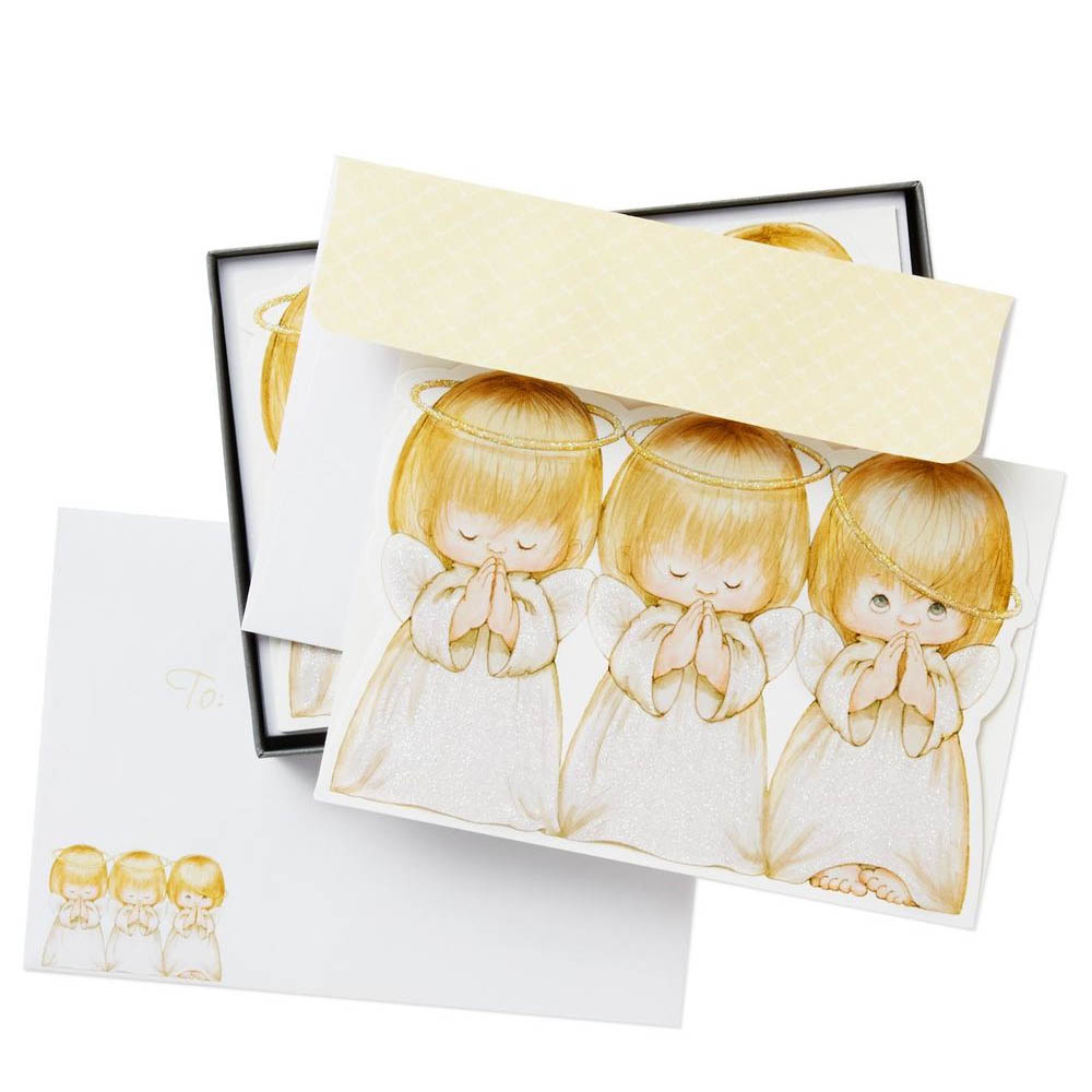 Hallmark Three Angels Christmas Blessings Cards, Box of 16